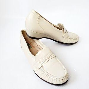 SAS Easier TriPad Wedge Comfort Shoes Beige 7.5